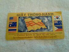 Vietnam War Safe-Conduct Pass