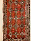 Vintage Turkish Kilim 375x214 cm Kelim Wool Rug Large Red, Black