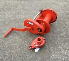 Thern Hand Winch Model 4411 Empty 2000# Full 850# USA MADE Heavy Duty Industrial