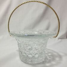 Avon Fostoria Candlelight Basket With Box
