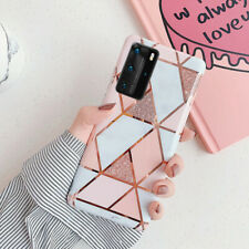 Para Samsung Galaxy S20 FE 20 Ultra S10 A41 Marble Note geométrica Blando Estuche Cubierta