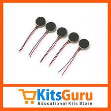 5pcs 10mm Diameter Flat Button Type 3V-4.5V CellPhone Micro Vibrator Motor KG414