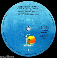 "12"" - U2 – Sunday Bloody Sunday + 2 (SPANISH PRESSING, E.P. EDIT. 1985) VG+"