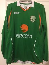 2009/2010 Republic of Ireland home football shirt Umbro small men's rare LS