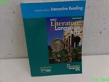 Holt Literature and Language Arts FORTH COURSE - LIKE NEW