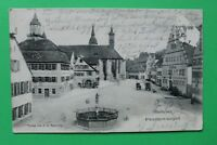 Bayern AK Feuchtwangen 1906 MFR Marktplatz Hotel Post Postkutsche Straße Ort (1