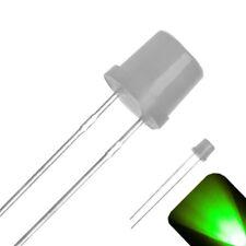 50 x LED 5mm cóncava verde con accesorios verdes concave LEDs