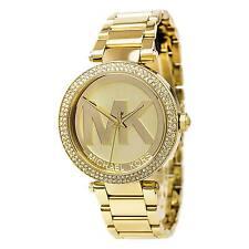 Michael Kors MK5784 Womens Parker Gold Dial Gold Steel Bracelet Glitz Watch