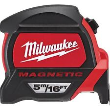 48-22-7216 Milwaukee 5m / 16FT Magnetic Tape Measure W/ Finger Stop