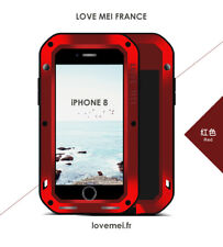 Coque Antichoc blindée iPHONE 8 plus - LOVE MEI FRANCE - étanche - Rouge