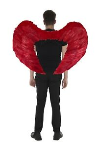 Zac's Alter Ego 100 x 75cm Very Large Halloween Red Devil Feather Wings