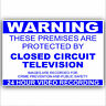 CCTV Monitored Warning Security Stickers-Home,Premises,Business Alarm Signs