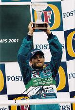 Giancarlo Fisichella Hand Signed Mild Seven Benetton Renault Podium Photo 12x8.