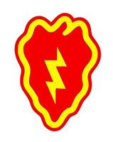 25th Infantry Division Tropic Lightning Vinyl Window Sticker Decal - Color