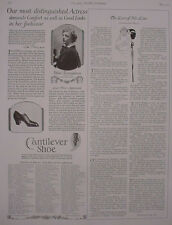 1924 Ethel Barrymore Cantilever Shoes List of Stores Vintage Print 11783