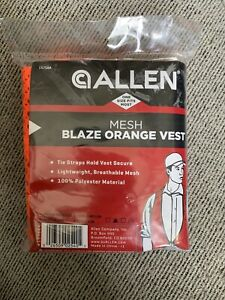 Allen Company Mesh Hunting Vest One Size Fits Most Orange New