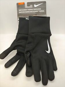 NIKE MEN'S WOMEN 'S ELEMENT THERMAL RUN RUNNING Size L LARGE BLACK Touch Screen
