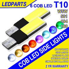 T10 Coche Lado Bombillas COB Canbus Error Free 501 LED W5W Xenon Hielo Azul Blanco