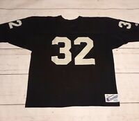Oakland Raiders Colors Champion Football Jersey Vtg 80s Size XL Black Silver