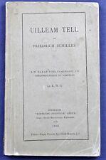 1893*UILLEAM(WILLIAM) TELL*SCOTTISH GAELIC*FROM GERMAN*FRIEDRICH SCHILLER*SIGNED