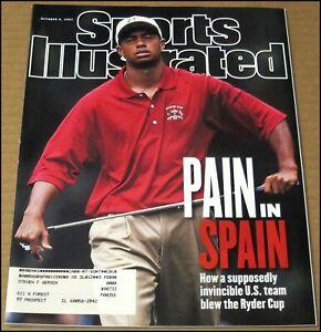 10/6/1997 Sports Illustrated Tiger Woods Ryder Cup Spain Larry Walker Hockey NHL