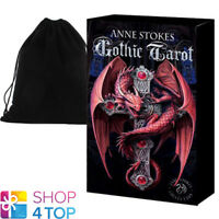 ANNE STOKES GOTHIC TAROT DECK TELLING CARDS DIVINATION FOURNIER & VELVET BAG NEW