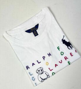 New Kids Girls Polo Ralph Lauren Cotton Jersey Graphic T-Shirt