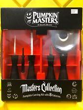 Halloween Pumpkin Carving Kit 5 Pc Set - 8 Carving Patterns Pumpkin Masters Box