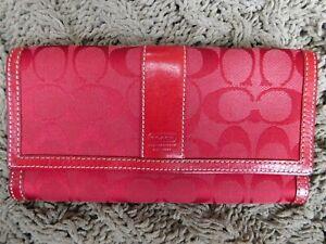 Coach VINTAGE, Canvas/Leather Tri-Fold wallet w/ Zipper pocket
