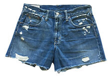 New Ralph Lauren Polo Women's Crosby Shorts  Blue Distressed Denim 32 NWOT