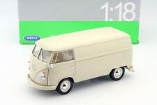 Volkswagen VW T1 Bus Año Fabricación 1963 Crema 1:18 Welly