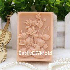 1pcs A Cluster of Flower(zx144) Silicone Handmade Soap Mold Crafts DIY Mould