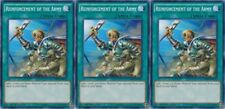 Reinforcement of the Army SDHS-EN032 X 3 1st Mint YUGIOH Cards