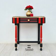 Writing Desk / Hallway Console/ Small Dressing Table red black gold