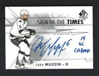 2016-17 SP Authentic Sign of the Times INSCRIBED Auto JAKE MUZZIN /50