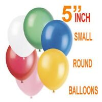"""5"""" Inch SMALL Round Plain Latex Party quality Balloons wedding birthday balloons"""