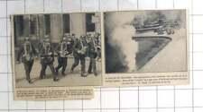 1935 Anti-gas Drill In Paris Garde Mobile, Bomb Drill