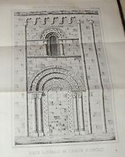 DE CAUMONT  STATISTIQUE MONUMENTALE DU CALVADOS - TOME Ier  1846  Nomb. gravures