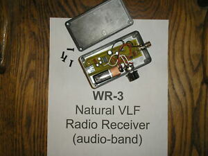 WR-3 ELF-VLF Handheld Receiver (for natural-radio listening)