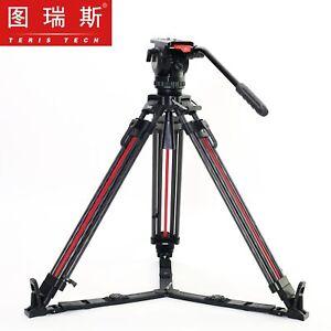 Teris Professional Carbon Video Camera Tripod Fluid Head 7KG TS-N6T PLUS-Q Trix