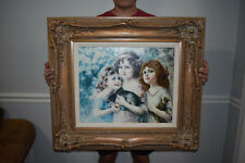 """Vintage Ornate Wood Picture Frame 30 1/2"""" x 35""""  Fits 18"""" x 22"""""""