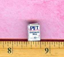 Dollhouse Miniature Size pet Evaporated Canned Milk Can