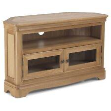 Leyburn Oak Furniture Corner Television TV Entertainment Cabinet Unit