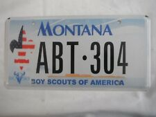 Montana Boy Scouts of America License Plate Tag