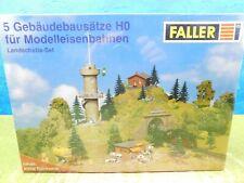 F11 Faller H0 Bausatz Landschafts-Set 5 Gebäudebausätze OVP TOP