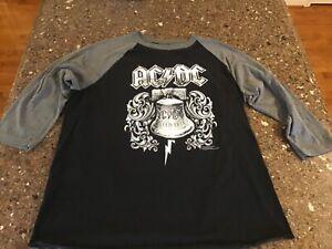 AC/DC Hell's Bell Shirt Liquid Blue Unisex Large