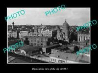 OLD POSTCARD SIZE MILITARY PHOTO WWI RIGA LATVIA VIEW OF THE CITY c1920 2