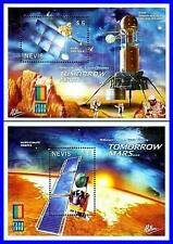 NEVIS 2000 SPACE MARS CONQUEST x2 S/S SC#1214-15 MNH CV$8.00 ASTRONOMY