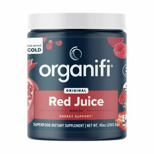 Organifi Red Juice Energy Support Superfood Powder Acai & Cordyceps Infused
