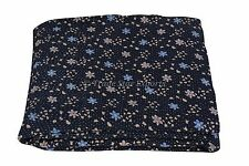 Floral Embroidered Vintage Kantha Quilt Cotton Handmade Gudari Reversible Throw